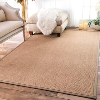 nuLOOM Faux Sisal Bordered Indoor/ Outdoor Rug (8' x 10')