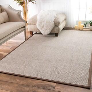 nuLOOM Faux Sisal Bordered Indoor/ Outdoor Rug (9' x 12')