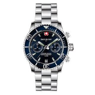Swiss Military by R 09502 3B BU Alpha Men's Chronograph Blue Dial Watch a pocket military knife