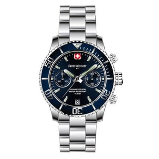 Swiss Military by R 09502 3B BU Alpha Men's Chronograph Blue Dial Watch a pocket military knife