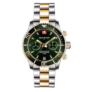 Swiss Military by R 09502 357J V Alpha Men's Chronograph Green Dial Watch with pocket military knife