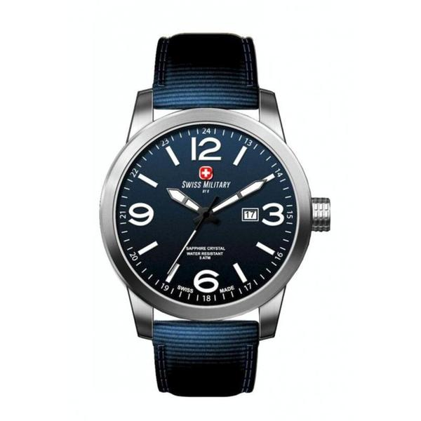 Swiss Military by R 50504 3 BU Sniper Men's Blue Nylon Band Blue Dial Watch with pocket military knife