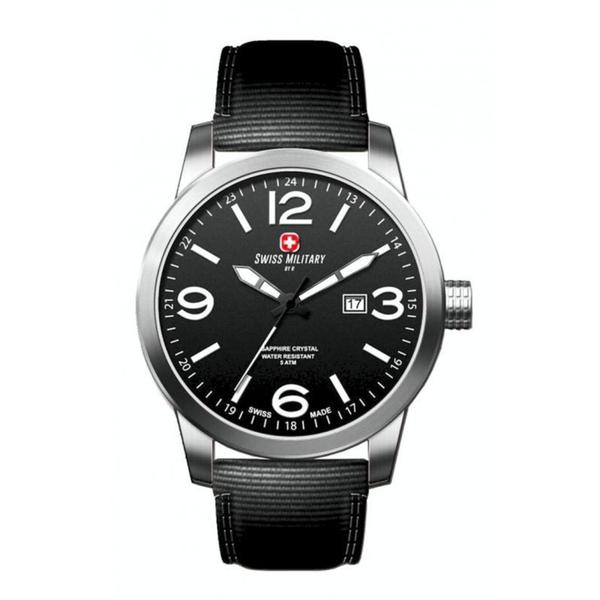 Swiss Military by R 50504 3 N Sniper Men's Black Nylon Strap Black Dial Watch with pocket military knife