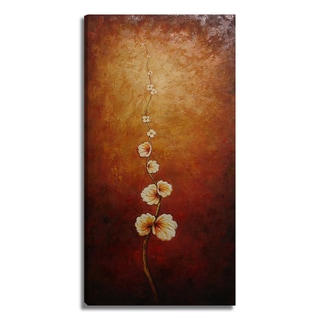 'Modern Floral' 20x39 Impressionistic Original Oil Painting Canvas Wall Art