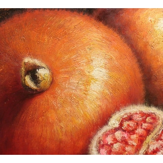 'Modern Oranges' 24x24 Realistic Oil Painting Canvas Wall Art