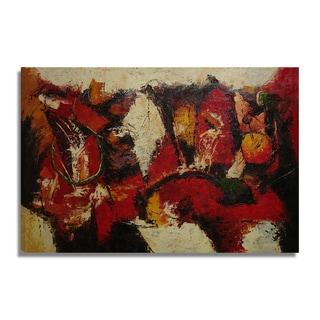 'Modern Abstract' 24x36 Original Abstract Modern Oil Painting Canvas Wall Art