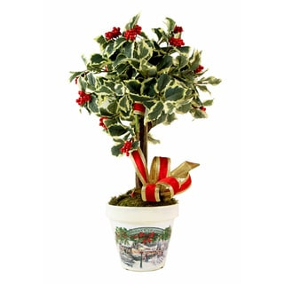 Variegated Holly Miniature Christmas Topiary