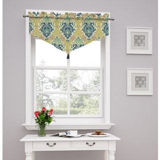 Traditions by Waverly Dressed up Damask Ascot Valance