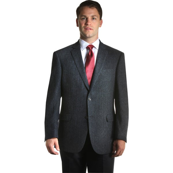Jean Paul Germain Men's Harris Tweed Herringbone Sportcoat