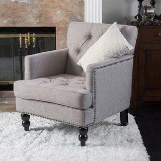 Pewter Fabric Club Chair