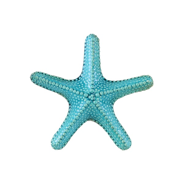 Ceramic Callous Gloss Finish Turquoise Large Sea Star Figurine