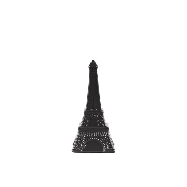 Ceramic Gloss Finish Black Small Eiffel Tower Figurine