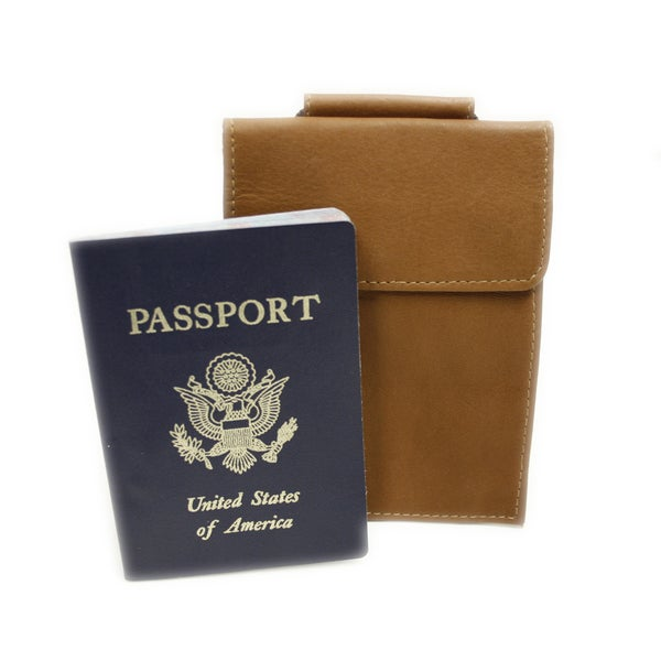 Piel Leather Hanging Passport Holder