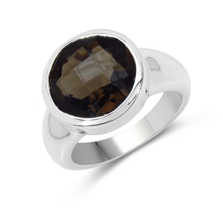 Malaika Sterling Silver Smokey Quartz Ring