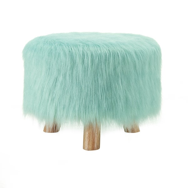 Oh! Home Katie Foot Stool - Light Grey