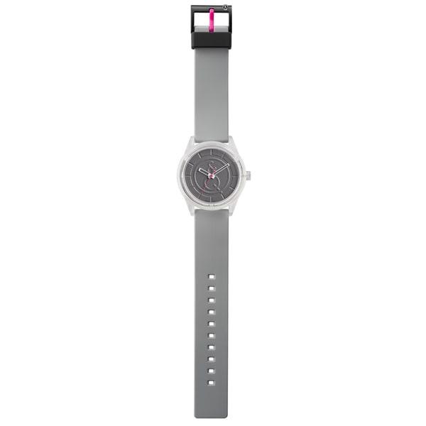 Unisex Solid Solar Powered Grey Polyurethane Strap Watch