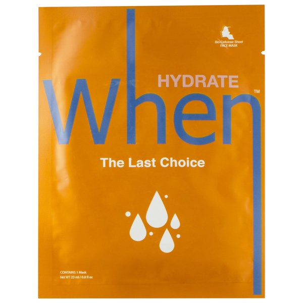 When The Last Choice Hydrating Sheet Mask