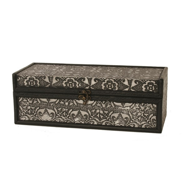 Metal/Wood Wine Box
