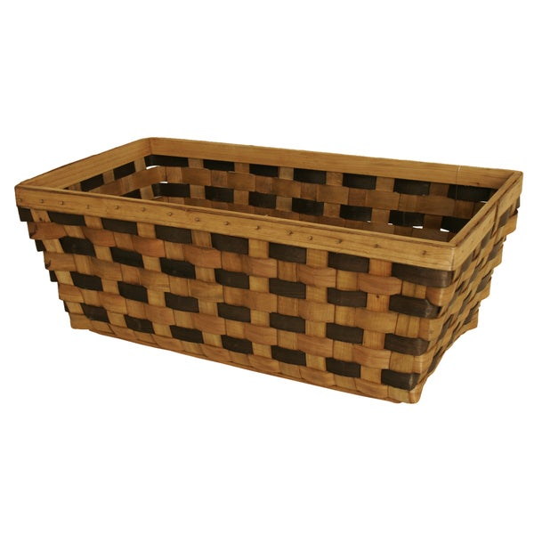 Tuscana Wood Chip Basket - Set of 2, Extra-Large