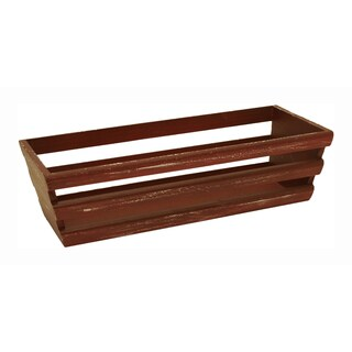 Wald Imports Weathered Red Wooden Storage Crate - Set of 3