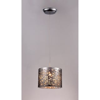 Evelyn 1-light Chrome 10-inch Crystal Pendant Lamp