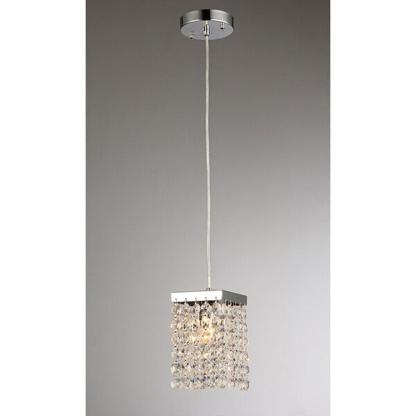 Jehra 1-light Square-shaped Crystal 6-inch Chrome Chandelier
