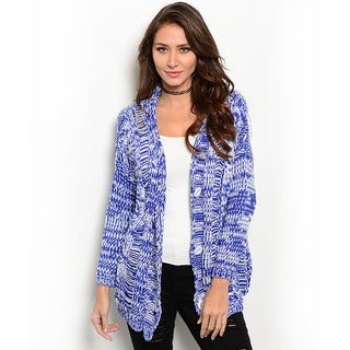 Shop the Trends Women's Long Sleeve Knit Cardigan