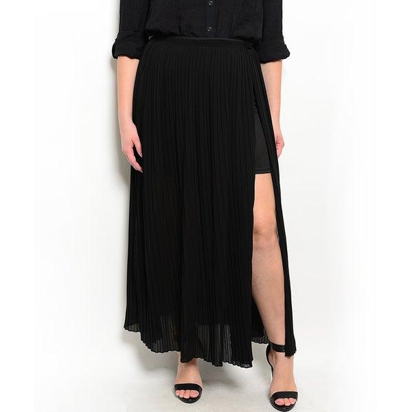 Shop the Trends Women's Plus Size Maxi Chiffon Skirt