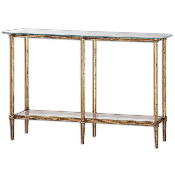 Elenio Glass Console Table