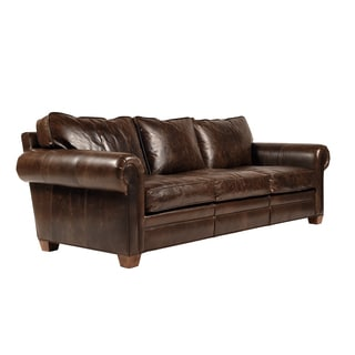 Jaxon Coronado Brown Leather Sofa