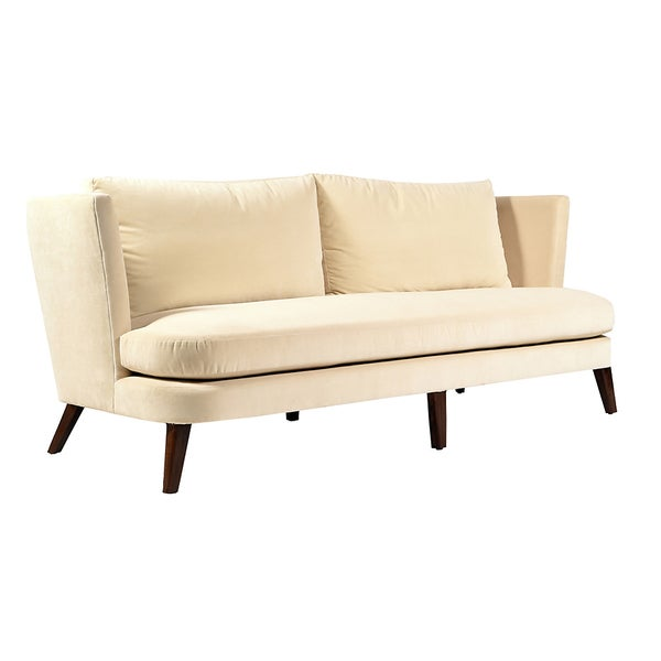 Marrau Ivory Velvet Sofa