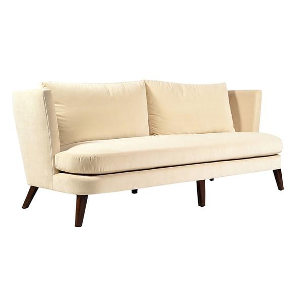 Marrau Ivory Velvet Sofa