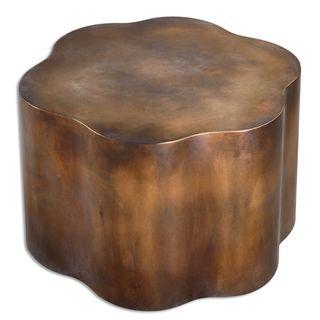 Sameya Oxidized Copper Accent Table
