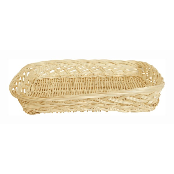 SET OF 12 Large Rectangle Wicker Trays
