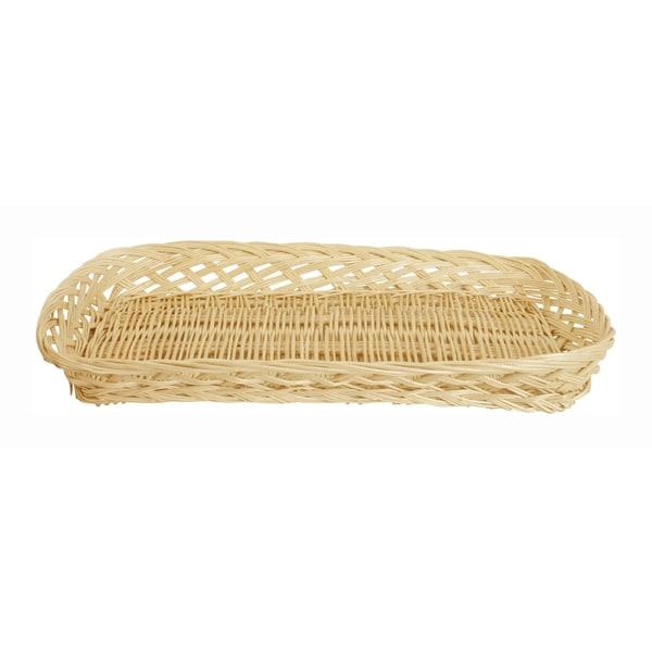 SET OF 12 Small Rectangle Wicker Trays