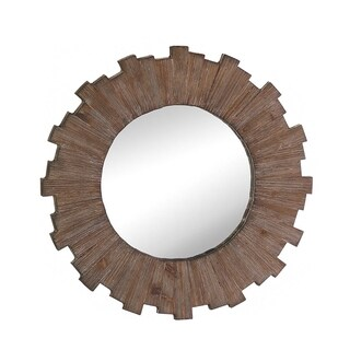 Wooden Sunburst Wall Mirror