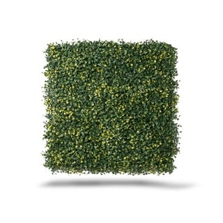 Indoor/Outdoor Ficus Gold Artificial Foliage Panels (Set of 4) - Green