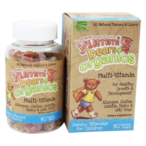 Yummi Bears Organics MultiVitamin Gummy Bears (90 Gummies)