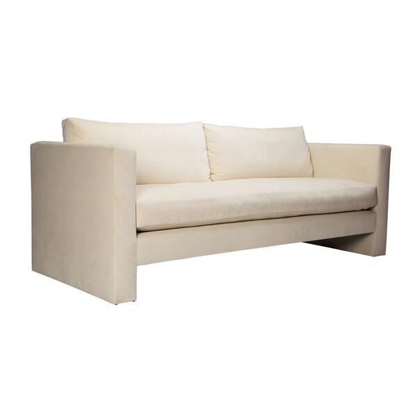 Bucky Pearl Velvet Upholstered Sofa