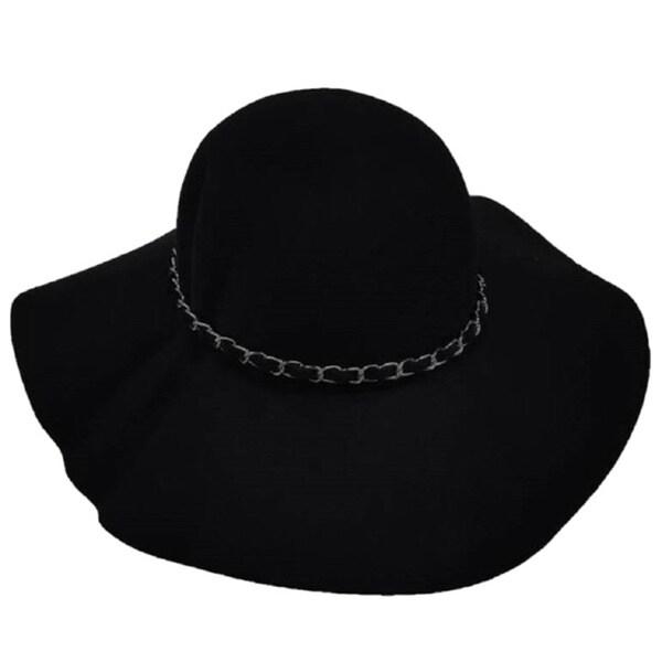 Hatch Women's Frontier Metallic Belting Wool Felt Floppy Hat