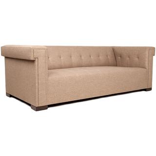Jaxon Bradley Beige Tufted Sofa