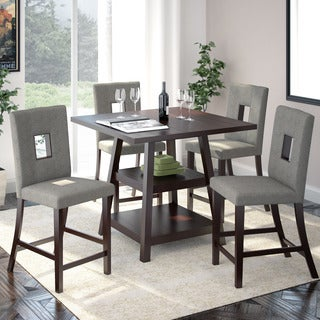 "CorLiving Bistro 5pc 36"" Counter Height Rich Cappuccino Dining Set"