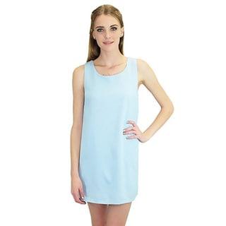 Relished Women's Contemporary Mesh-Net Detail Shift Dress