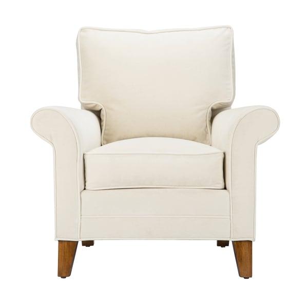 Gavin Velvet Ivory Upholstered Armchair