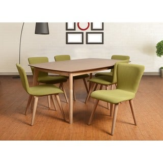 Dalia Mid-Century Green 7-piece Living Room Dining Set