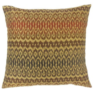 Dehateh Ikat Feather and Down Filled 18-inch Throw Pillow
