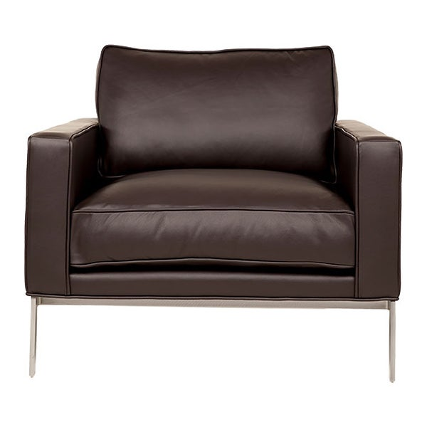 Donovan Brown Leather Armchair