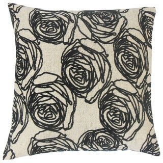 Ilaria Floral Feather and Down Filled 18-inch Throw Pillow