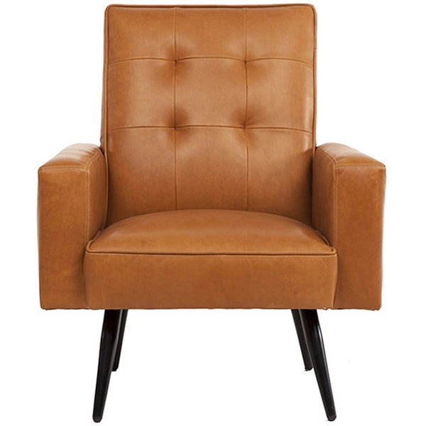 Stark Toffee Brown Leather Armchair