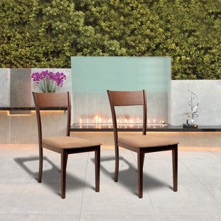 Olivia Dining Room Brown Dining Chairs (Set of 2)